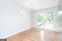 Dining Area - Pella Slider - New Porch off Kitchen - 9113 WALDEN RD, SILVER SPRING
