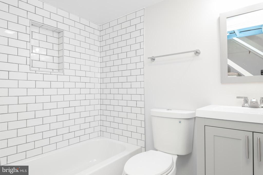 Lower Level Full Bath - 9113 WALDEN RD, SILVER SPRING