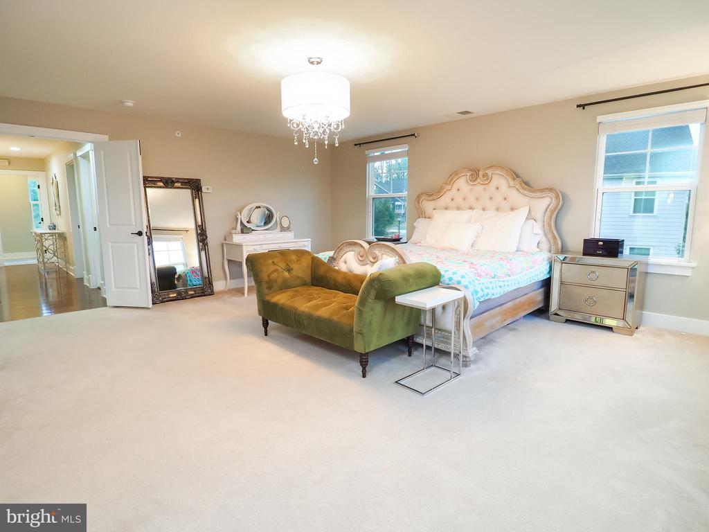Large primary bedroom with double door entry - 2480 POTOMAC RIVER BLVD, DUMFRIES