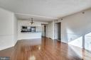 View into the kitchen - 1276 N WAYNE ST #805, ARLINGTON