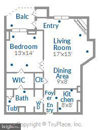 Floor plan - 1276 N WAYNE ST #805, ARLINGTON