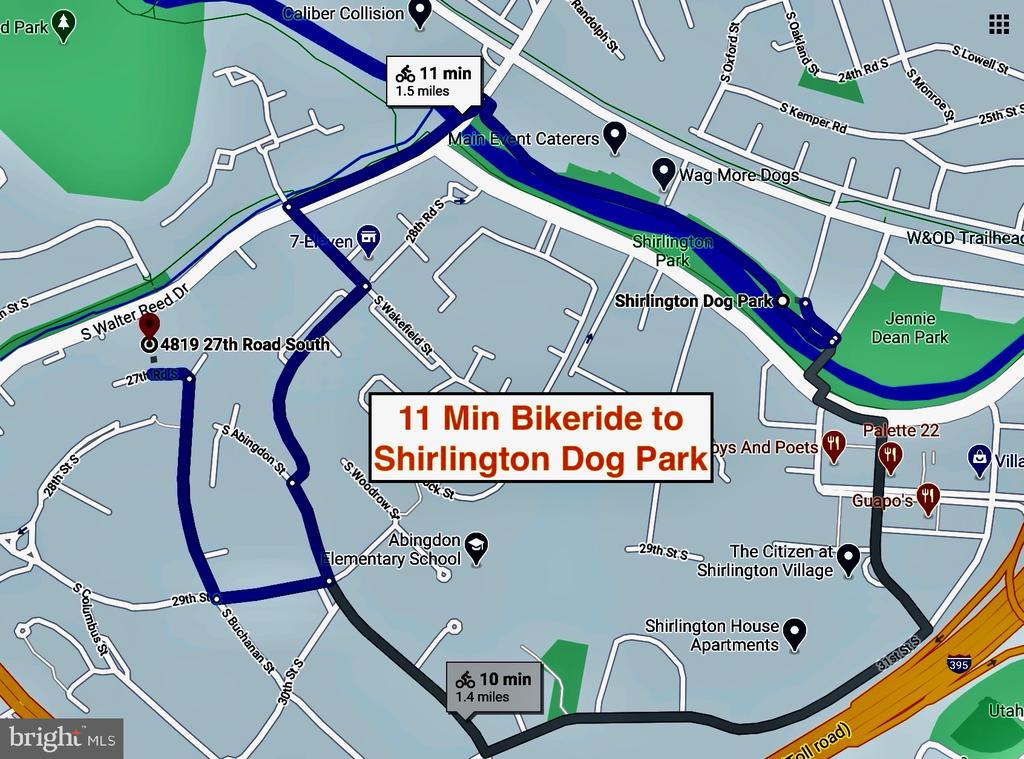 11 Min Bikeride to Shirlington Dog Park - 4819 27TH RD S #2503, ARLINGTON