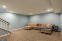 The basement rec room - 16928 TAKEAWAY LN, DUMFRIES