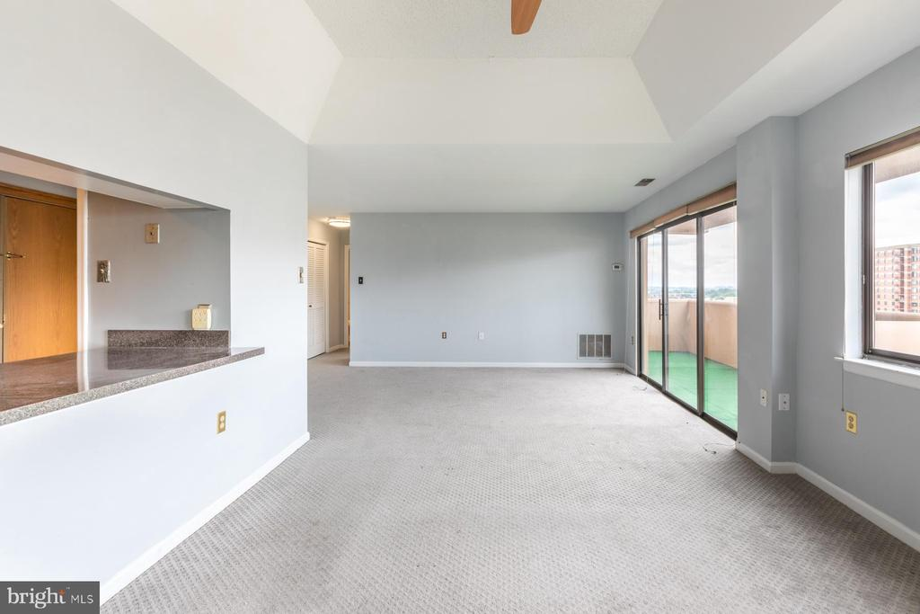 Open living/dining - 1301 N COURTHOUSE RD #1711, ARLINGTON
