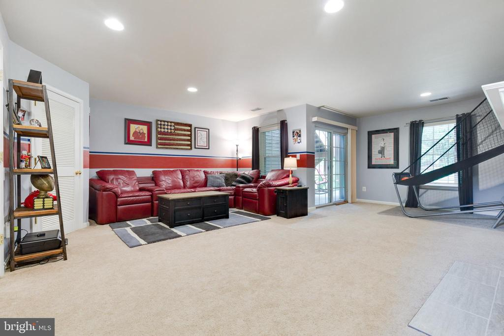 Lower Level Rec Room with Walk-out - 1507 SHIELDS TER NE, LEESBURG