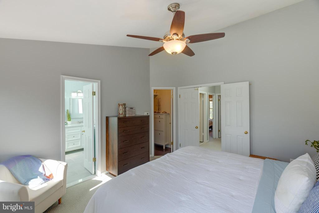 Spacious primary bedroom with vaulted ceilings - 14641 STREAM POND DR, CENTREVILLE