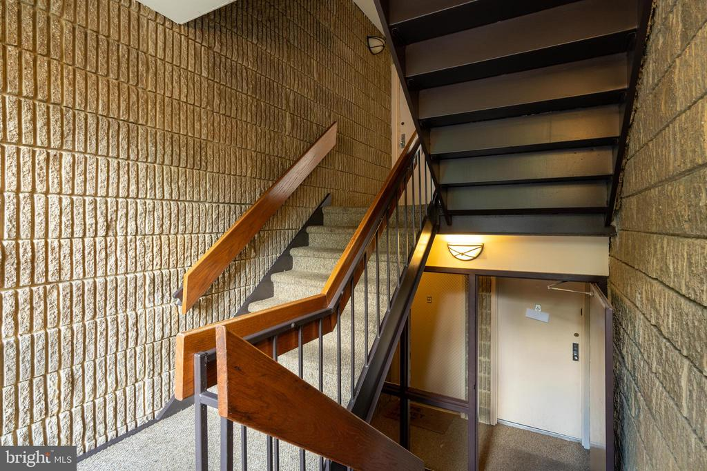 Entry stairs to unit - 5160 MARIS AVE #100, ALEXANDRIA