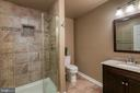 Lower level full bath - 116 CHRISWOOD LN, STAFFORD