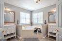 Primary Bathroom with Double Vanities, Soaking Tub - 11404 ATTINGHAM CT, MANASSAS