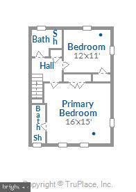 Upper level floorplan - 4609 34TH ST S, ARLINGTON