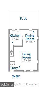 Main level floorplan - 4609 34TH ST S, ARLINGTON