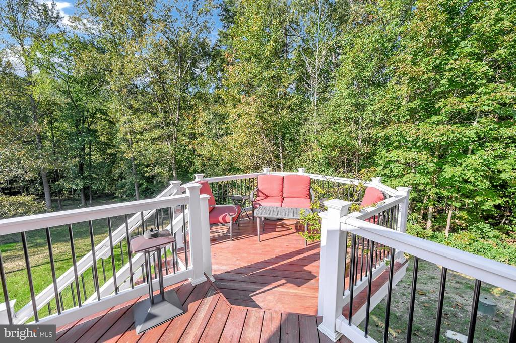 amazing deck for entertaining - 7900 S WOODS DR, FREDERICKSBURG