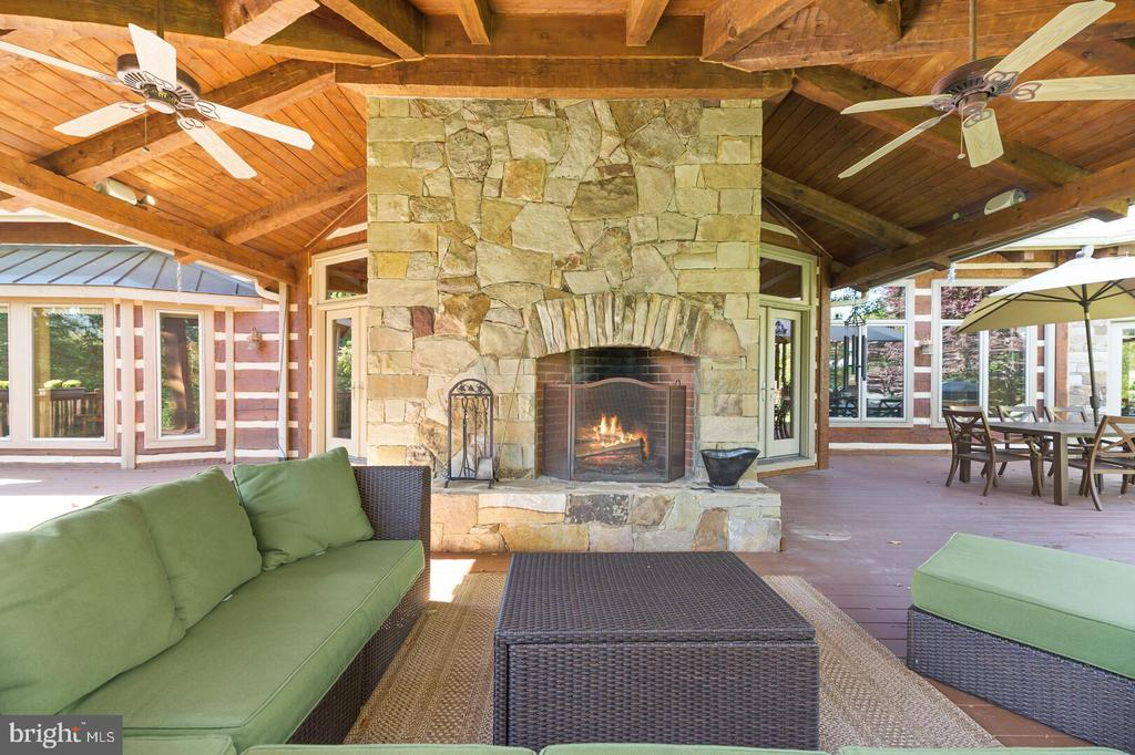 Covered Deck with Wood Burning Fireplace - 12904 & 12898 SAGLE RD, HILLSBORO