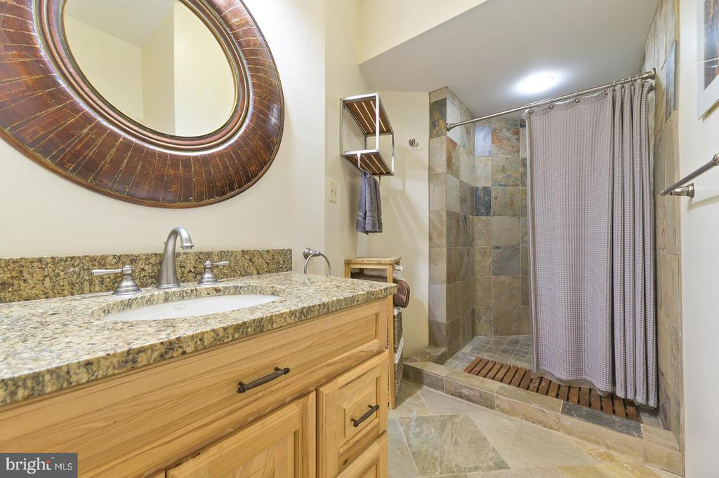 Main level full bath with step in shower - 12904 & 12898 SAGLE RD, HILLSBORO