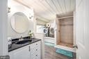 Updated Full Bath with Custom Tile Shower - 7019 SIGNAL HILL RD, MANASSAS