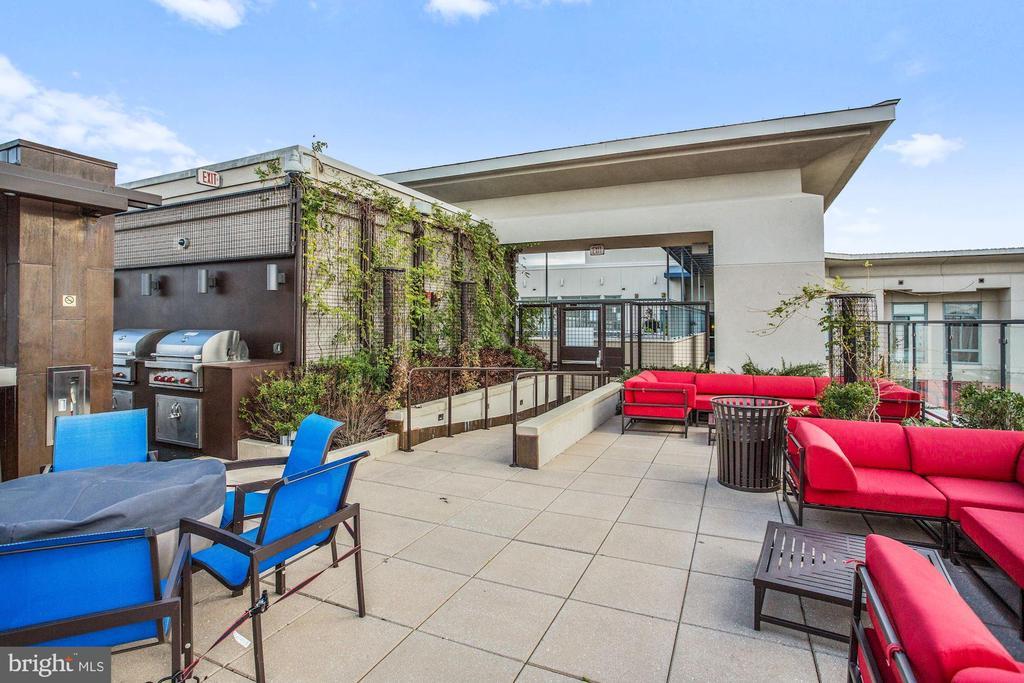 Rooftop Dining Grills & Sitting Area - 851 N GLEBE RD #1117, ARLINGTON