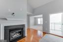 Gas fireplace! - 12001 MARKET ST #440, RESTON