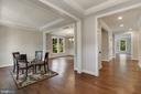 Foyer/Hallway with Parlor - 3414 BURROWS AVE, FAIRFAX