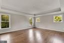 Master Bedroom with Box Ceiling & lots of light - 3414 BURROWS AVE, FAIRFAX