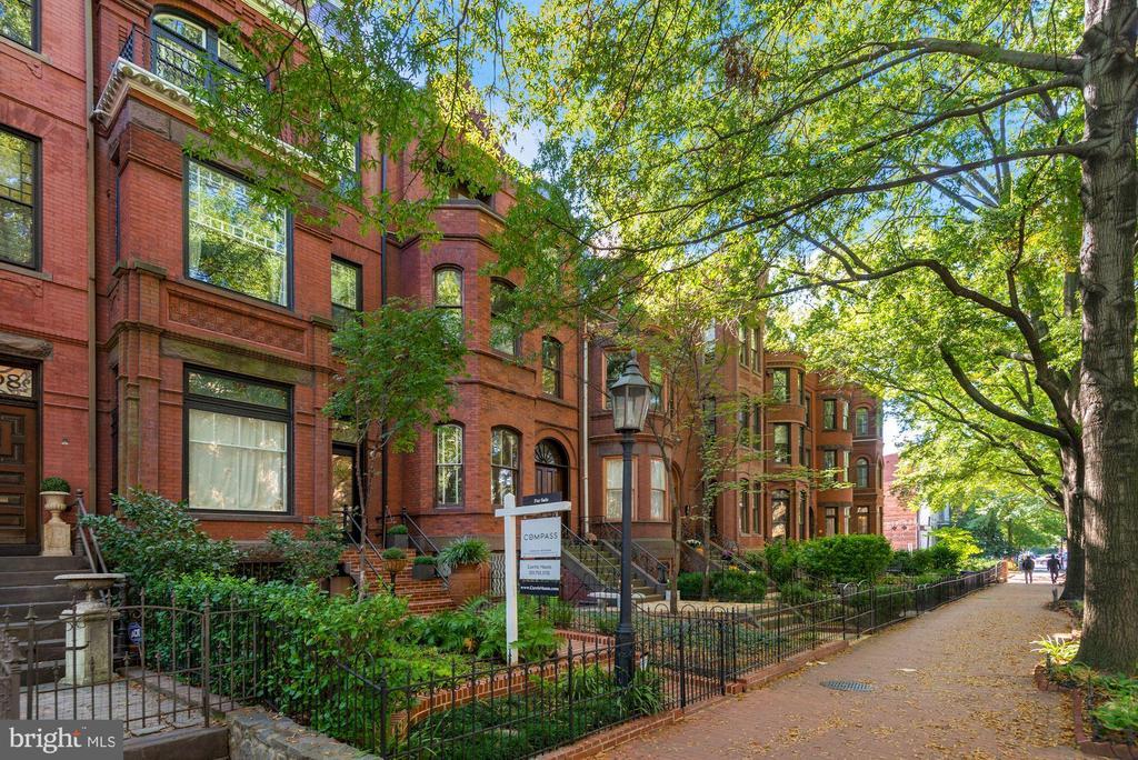 Tree-lined street with brick sidewalks - 1310 RHODE ISLAND AVE NW, WASHINGTON