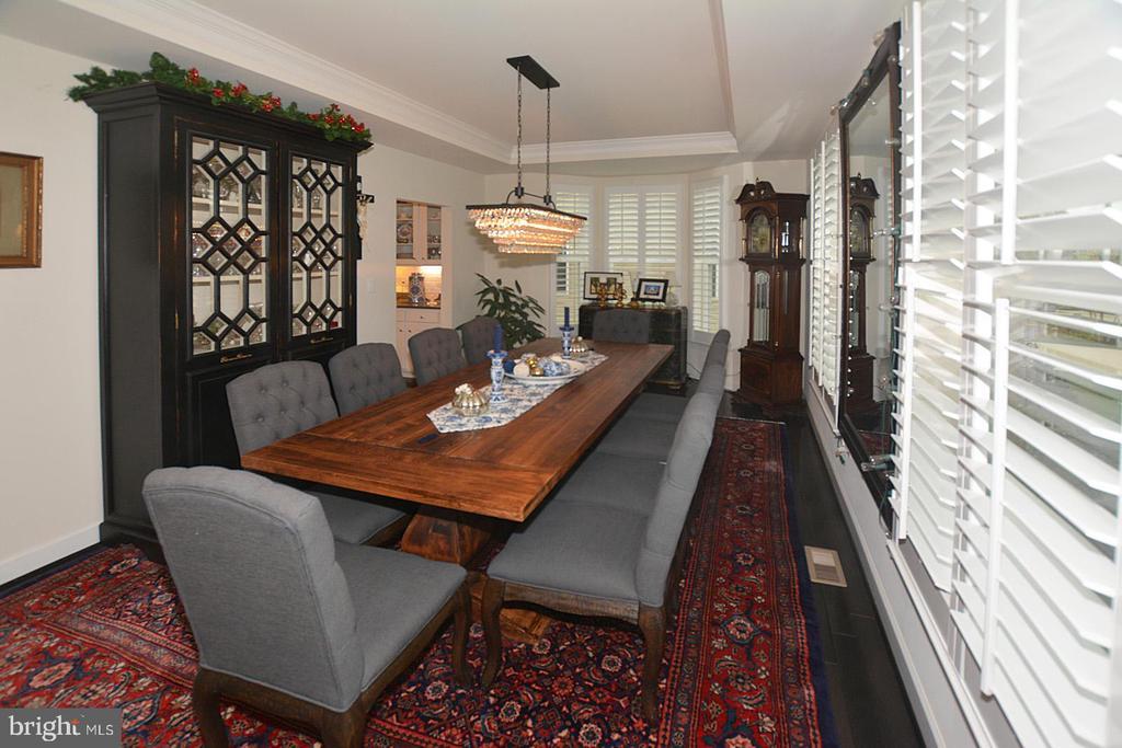 Dining Room with optional bay window - 7614 CHESTNUT ST, MANASSAS