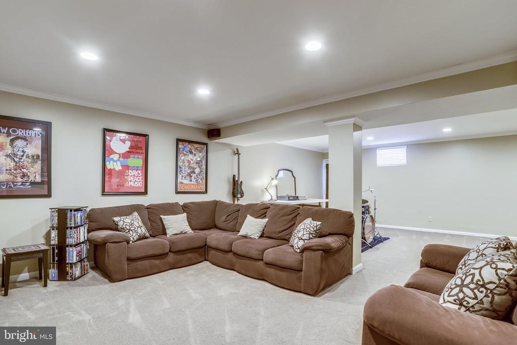 Lower level recreation room - 43207 SUMMITHILL CT, ASHBURN