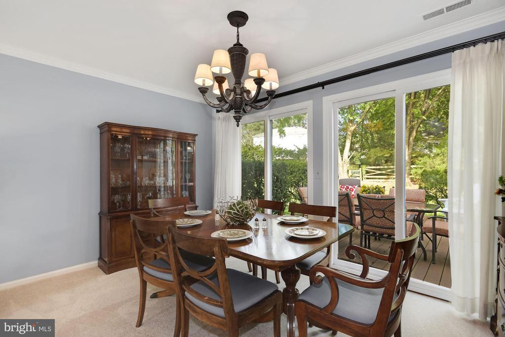 Dining Room with new sliding glass doors - 7 COLEMAN LN, STERLING