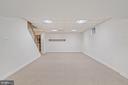 Lower Level Recreation Room - 11644 SANDAL WOOD LN, MANASSAS