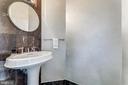 Designer guest powder room - 8220 CRESTWOOD HEIGHTS DR #1916, MCLEAN