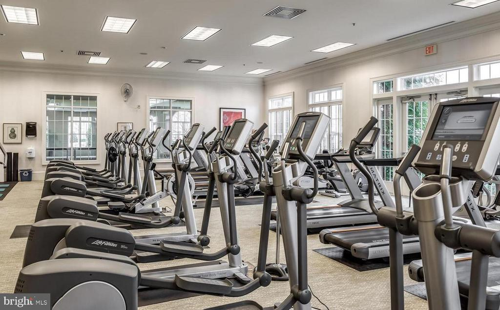 Exercise Room in Club House - 20590 HOPE SPRING TER #104, ASHBURN