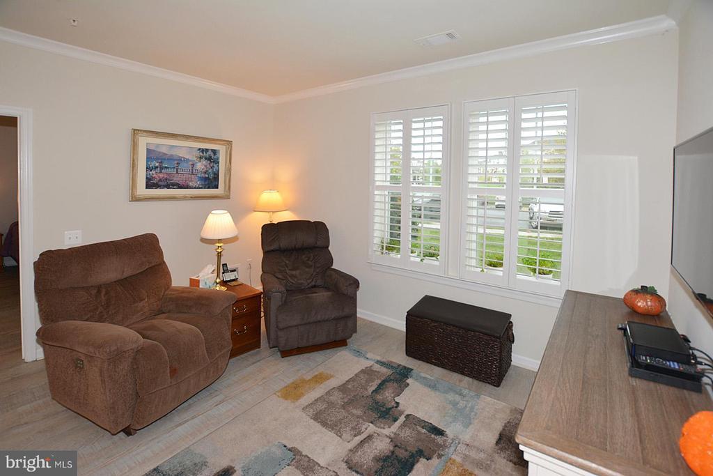 Living Room with Custom Shutters - 20590 HOPE SPRING TER #104, ASHBURN