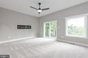 Primary bedroom. Example of electric fireplace! - 6762 W LAKERIDGE, NEW MARKET