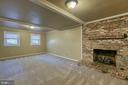 Family room in basement with gas fireplace - 6 FOX ST, STAFFORD