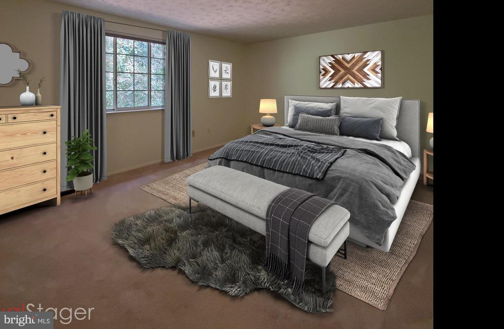 STAGED MASTER BEDROOM - 1548 BENNINGTON WOODS CT, RESTON