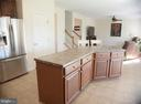 Large island in kitchen, open to living room - 3 BRACEY MILL CT, FREDERICKSBURG