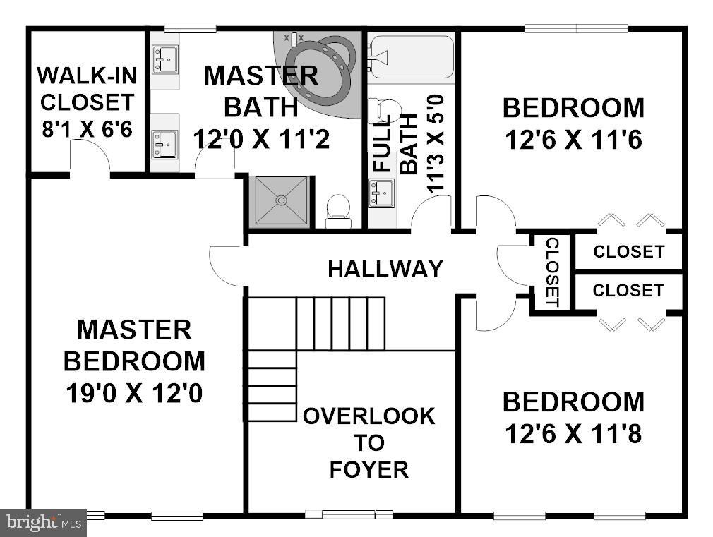 Upper Level Floor Plan - 8 LITTLE ROCKY RUN LN, STAFFORD