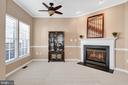 Cozy dining room fireplace to light the night - 4125 FAIRFAX CENTER CREEK DR, FAIRFAX