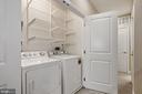 Laundry closet on second level - 1418 N RHODES ST #B113, ARLINGTON