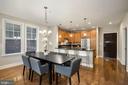 Dining area looking towards kitchen - 1418 N RHODES ST #B113, ARLINGTON