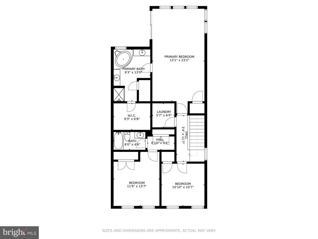 Upper Level Floor Plan - 7 FLINT CT, STAFFORD