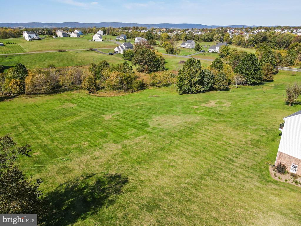 Aerial view of rear yard - 18109 OAK RIDGE DR, PURCELLVILLE