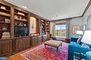Library with custom built in cabinetry - 18109 OAK RIDGE DR, PURCELLVILLE