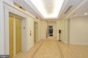 Lobby entry to garage - 19350 MAGNOLIA GROVE SQ #211, LEESBURG