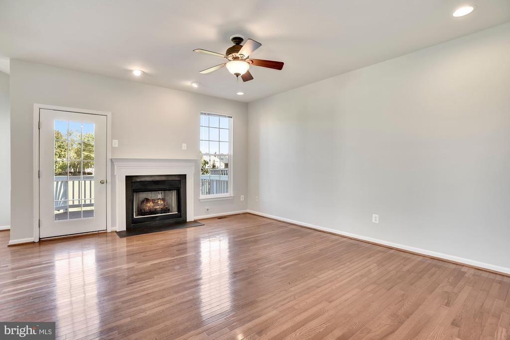 Family Room w/ Gas Fireplace - 43218 BALTUSROL TER, ASHBURN