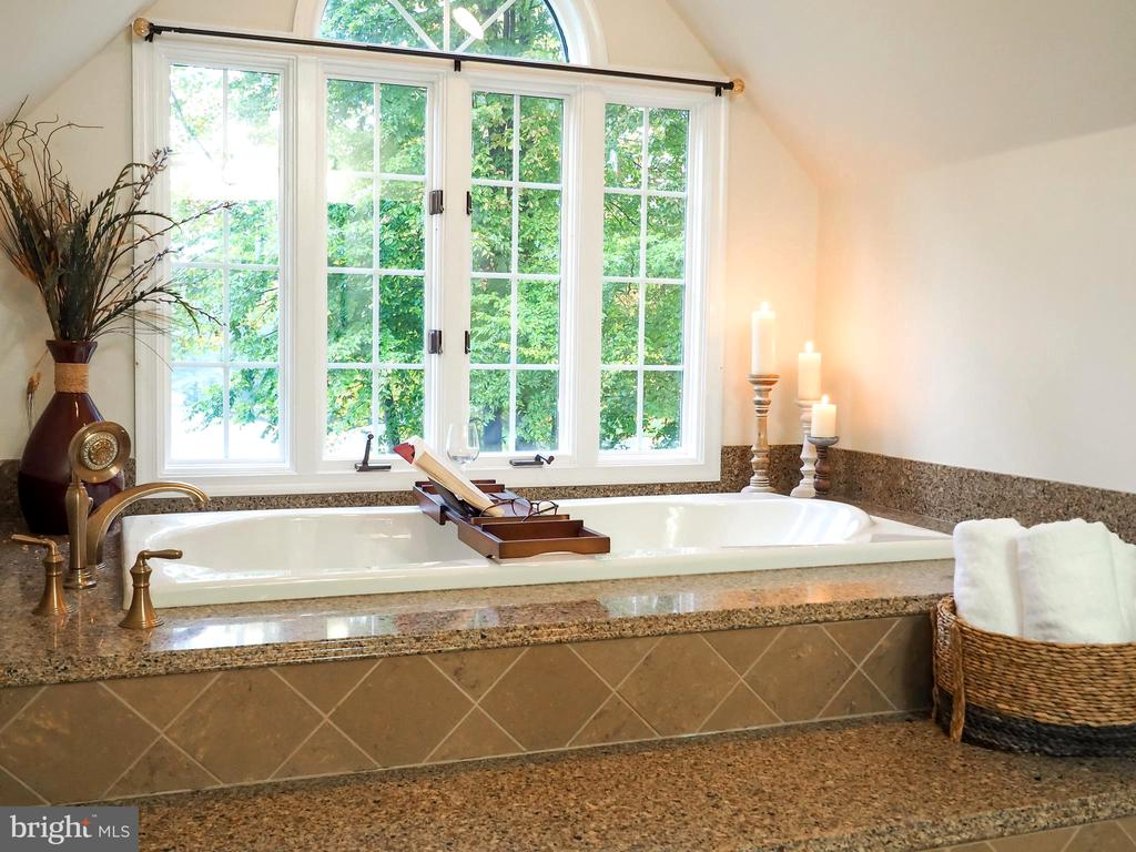 Luxurious spa-like step-up jetted tub - 7755 WALLER DR, MANASSAS