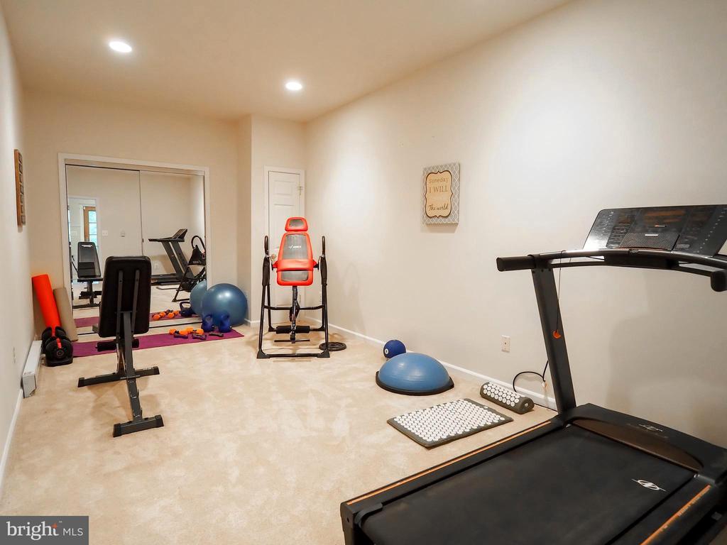 Separate bonus room used for fitness area - 7755 WALLER DR, MANASSAS