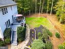 Aerial view of yard and hardscape - 7755 WALLER DR, MANASSAS