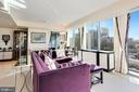 Living Room with Phenomenal Views - 1881 N NASH ST #1410, ARLINGTON