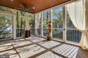 Screened In Porch overlooks backyard and Patio - 1636 STOWE RD, RESTON