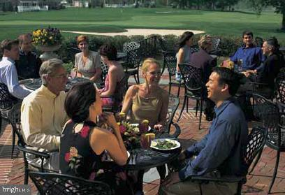 The Patio at the Club Overlooking the 18th Green - 19658 OLYMPIC CLUB CT, ASHBURN